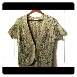 Loft Cardigan Olive Green, Cotton